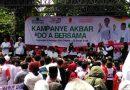 Kampanye Akbar Jokowi -Ma'ruf di Depok Ribuan Warga Serbu Lapangan Kamboja