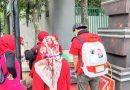 Cegah Virus Corona, Afifah Semprot Disinfektan Perumahan Puri Depok