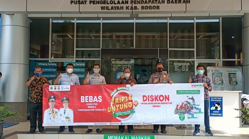 Samsat Kabupaten Bogor Dukung Program Tripel Untung Samsat Jawa Barat Periode 2 Agustus – 24 Desember 2021